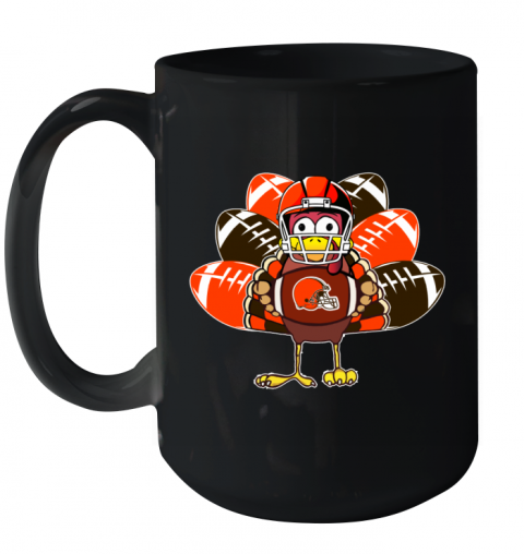 Cleveland Browns  Thanksgiving Turkey Football NFL Ceramic Mug 15oz
