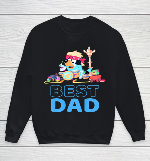 Bluey Best Dad Matching Family For Lover Youth Sweatshirt