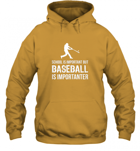 wmpu school is important but baseball is importanter gift hoodie 23 front gold