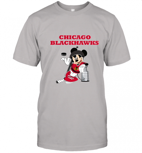 5krp mickey chicago blackhawks with the stanley cup hockey nhl jersey t shirt 60 front ash