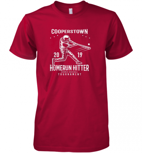 9ksc cooperstown home run hitter premium guys tee 5 front red