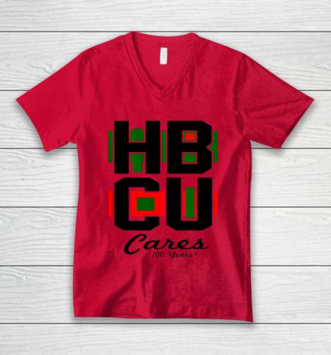 HBCU Cares College University Graduation Gift Black School V-Neck T-Shirt 3