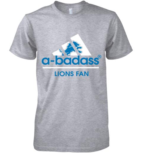 uovk a badass detroit lions mashup adidas nfl premium guys tee 5 front heather grey