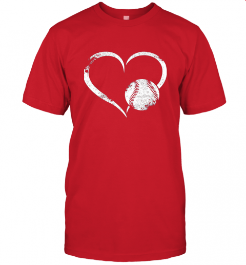 npdr i love baseballl funny baseball lover heartbeat jersey t shirt 60 front red