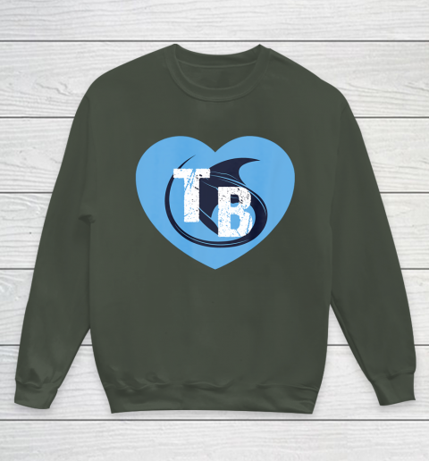 Stingray Love Tampa Bay Vintage TB Cool Tampa Bay Heart Youth Sweatshirt 10