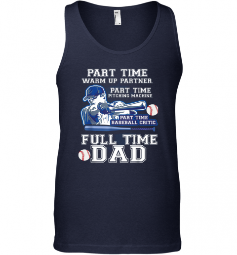 lmzg mens part time warm up partner pitching machine baseball dad unisex tank 17 front navy
