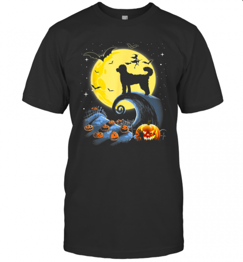 Standard Poodle Dog And Moon Funny Halloween Costume Gift T-Shirt
