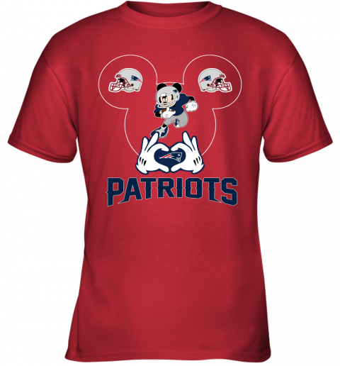 tu6x i love the patriots mickey mouse new england patriots youth t shirt 26 front red