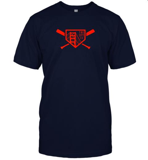 yuvv cool san francisco baseball the city bridge sfo jersey t shirt 60 front navy