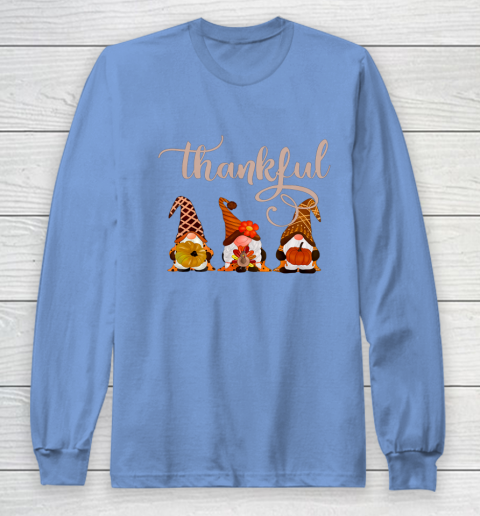 Cute Thanksgiving Thankful Gnomes Long Sleeve T-Shirt 8