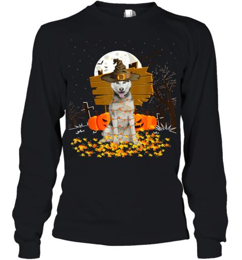 My Husky Pumpkins Halloween Dog Gift Youth Long Sleeve