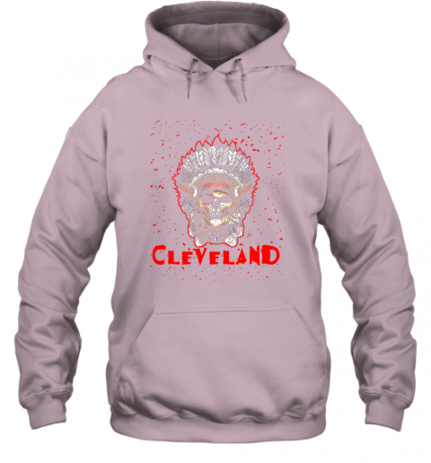 phgn cleveland hometown indian tribe vintage baseball fan awesome hoodie 23 front light pink