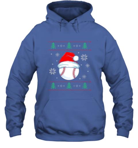 vz0w ugly christmas baseball shirt boys kids ball santa pajama hoodie 23 front royal