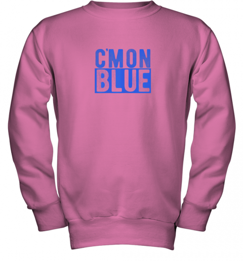 5774 cmon blue umpire baseball fan graphic lover gift youth sweatshirt 47 front safety pink