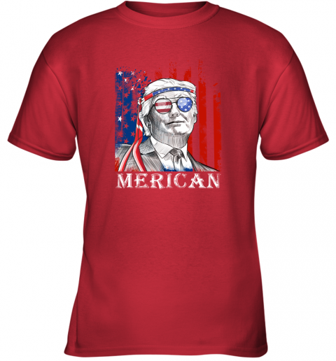 zpks merica donald trump 4th of july american flag shirts youth t shirt 26 front red