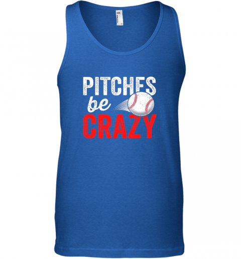 mxt3 pitches be crazy baseball shirt funny pun mom dad adult unisex tank 17 front royal