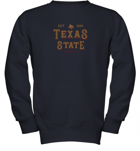 nwzp texas state bobcats womens college ncaa youth sweatshirt 47 front navy
