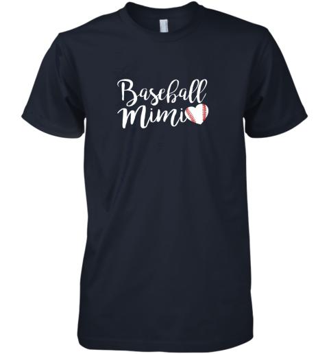 q6my funny baseball mimi shirt gift premium guys tee 5 front midnight navy