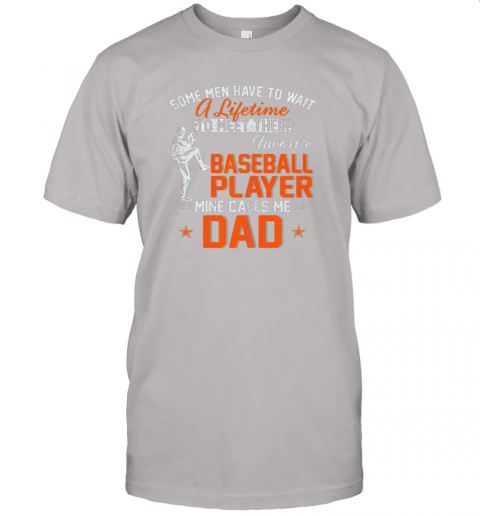 tlmc my favorite baseball player calls me dad funny father39 s day gift jersey t shirt 60 front ash