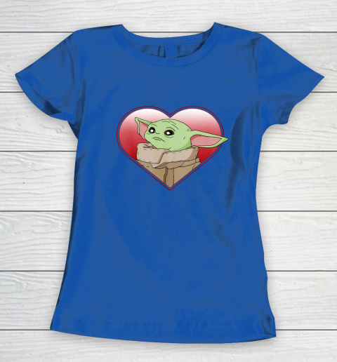 Star Wars The Mandalorian The Child Valentine Heart Portrait Women's T-Shirt 8