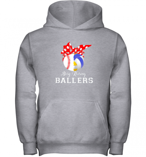 4zxv baseball volleyball busy raising ballers shirt mothers day youth hoodie 43 front sport grey