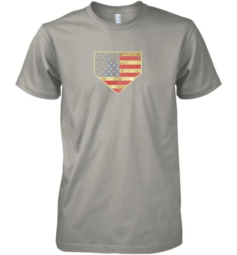 uj4v vintage american flag baseball shirt home plate art gift premium guys tee 5 front light grey