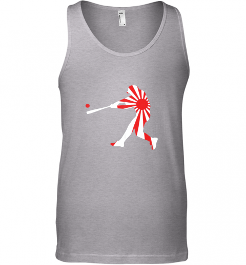 slqe japan baseball shirt jpn batter classic nippon flag jersey unisex tank 17 front sport grey