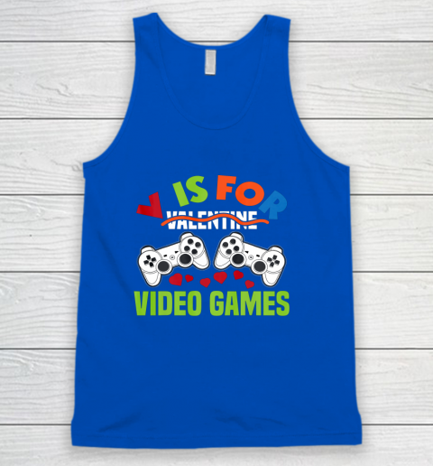 Funny Video Games Lover Valentine Day Tank Top 4
