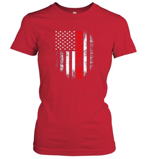 ktrn vintage usa american flag proud baseball dad player ladies t shirt 20 front red