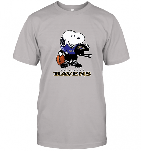 Snoopy A Strong And Proud Baltimore Ravens Player NFL Unisex Jersey Tee