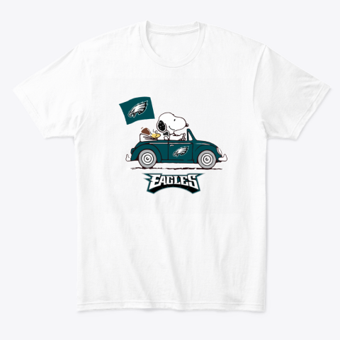 Snoopy And Woodstock Ride The Philadelphia Eagles Car T-Shirt
