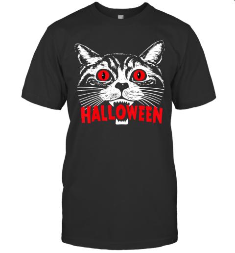 Purr Evil Satanic Cat Halloween Gift For Cat Lovers T-Shirt