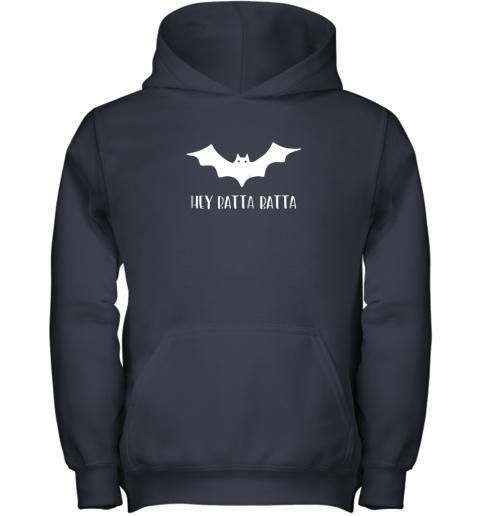 ysrp halloween bat shirt funny baseball lover hey batta gift youth hoodie 43 front navy
