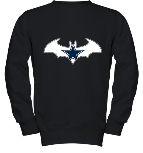 We Are The Dallas Cowboys Batman NFL Mashup Youth Sweatshirt