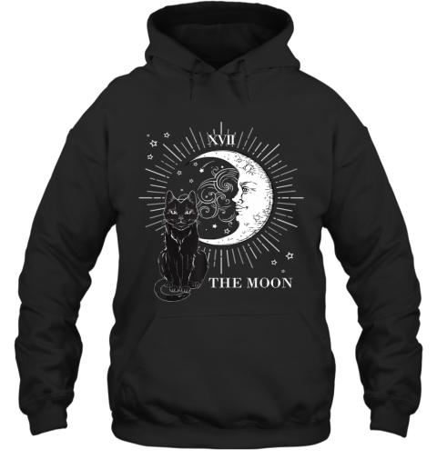 Vintage Scary Halloween Black Cat and Moon Costume Gift Hoodie