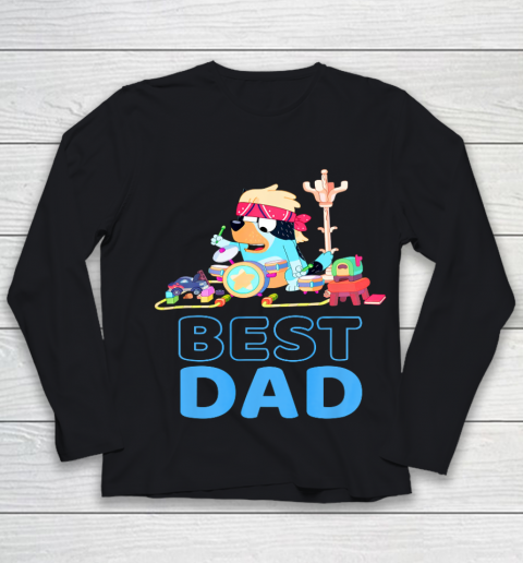 Bluey Best Dad Matching Family For Lover Youth Long Sleeve