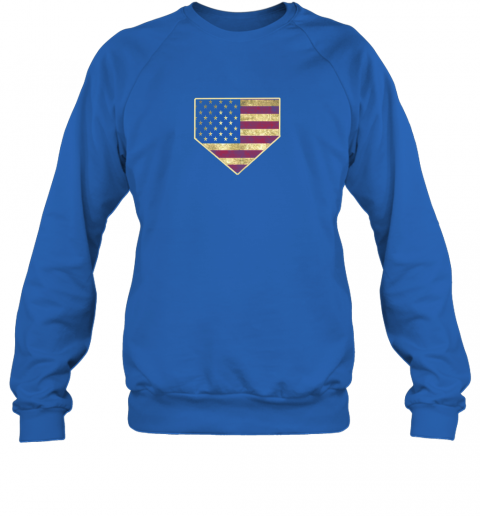 ys8w vintage american flag baseball shirt home plate art gift sweatshirt 35 front royal