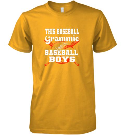 yoca this baseball grammie loves her baseball boys premium guys tee 5 front gold
