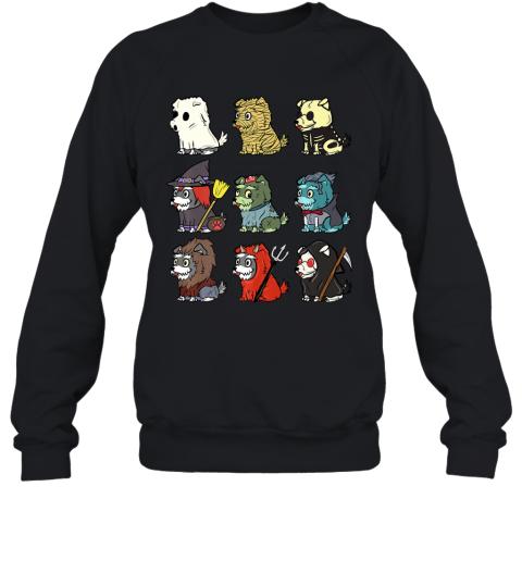 Schnauzer Scary Costumes Funny Dog Halloween Gift Premium T-Shirt Sweatshirt