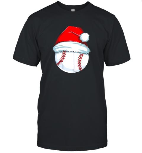 Christmas Baseball Shirt For Kids Men Ball Santa Pajama Unisex Jersey Tee