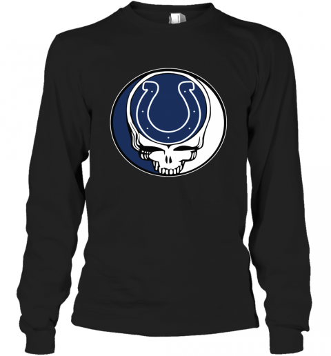Indianapolis Colts Grateful Dead Steal Your Face Football Nfl Shirts Men Long Sleeve Shirt