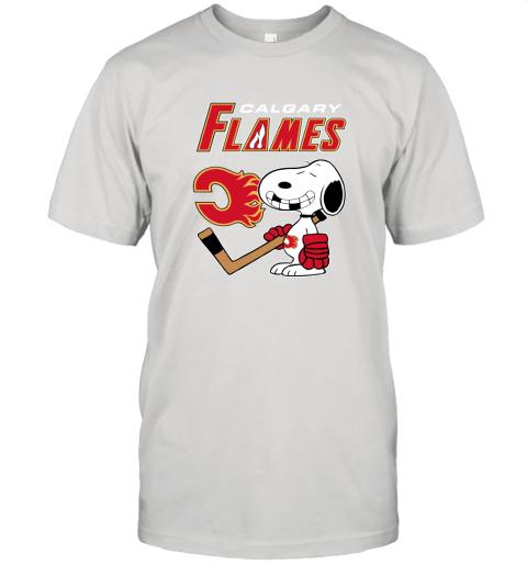 Calgary Flames Ice Hockey Broken Teeth Snoopy NHL Shirt