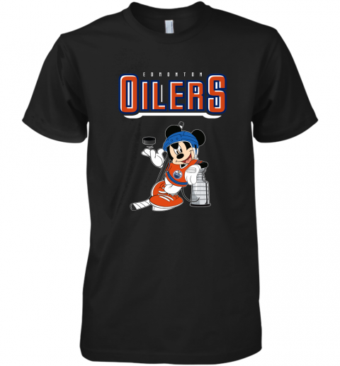 ozot mickey edmonton oilers with the stanley cup hockey nhl shirt premium guys tee 5 front black