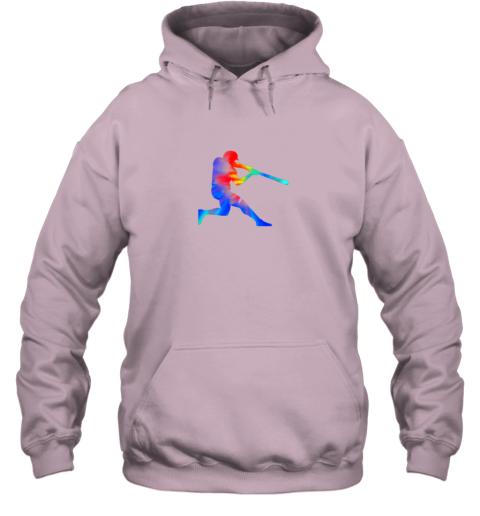 5v8l tie dye baseball batter shirt retro player coach boys gifts hoodie 23 front light pink