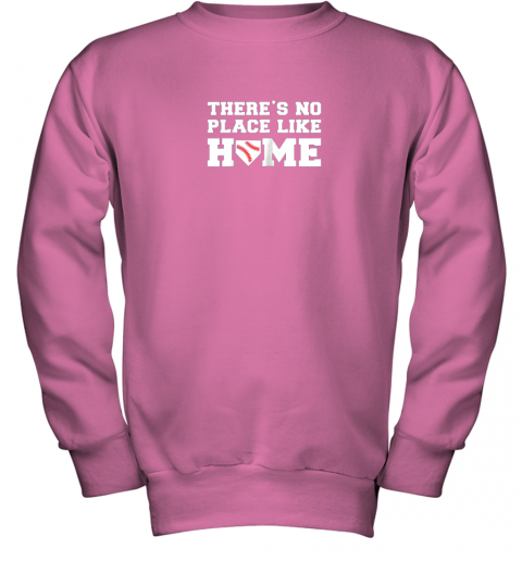 u32n there39 s no place like home baseball shirt kids baseball tee youth sweatshirt 47 front safety pink