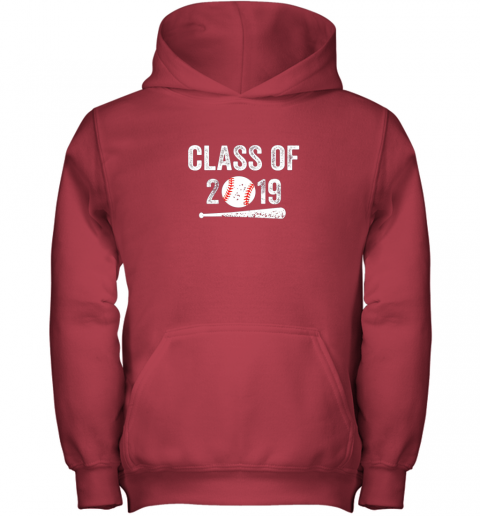 uqww class of 2019 vintage shirt graduation baseball gift senior youth hoodie 43 front red