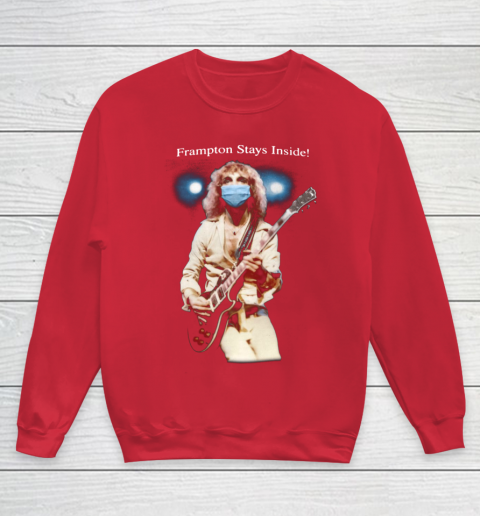Peter Frampton Covid Stays Inside Youth Sweatshirt 7