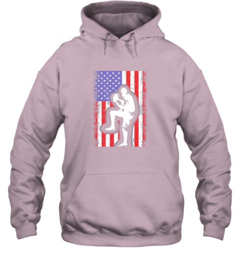 vwag vintage usa american flag baseball player team gift hoodie 23 front light pink