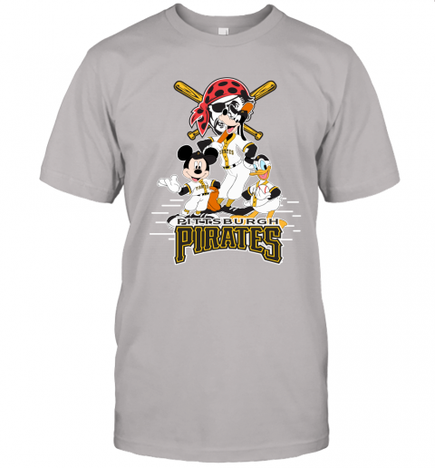 knxo pittsburgh pirates mickey donald and goofy baseball jersey t shirt 60 front ash