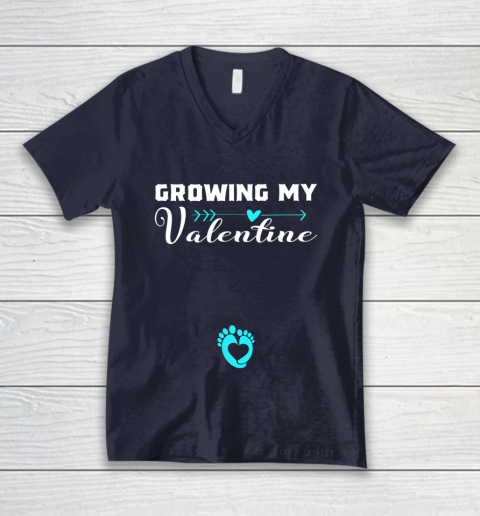 Cute Growing my Valentine Gift for Women pregnancy V-Neck T-Shirt 2